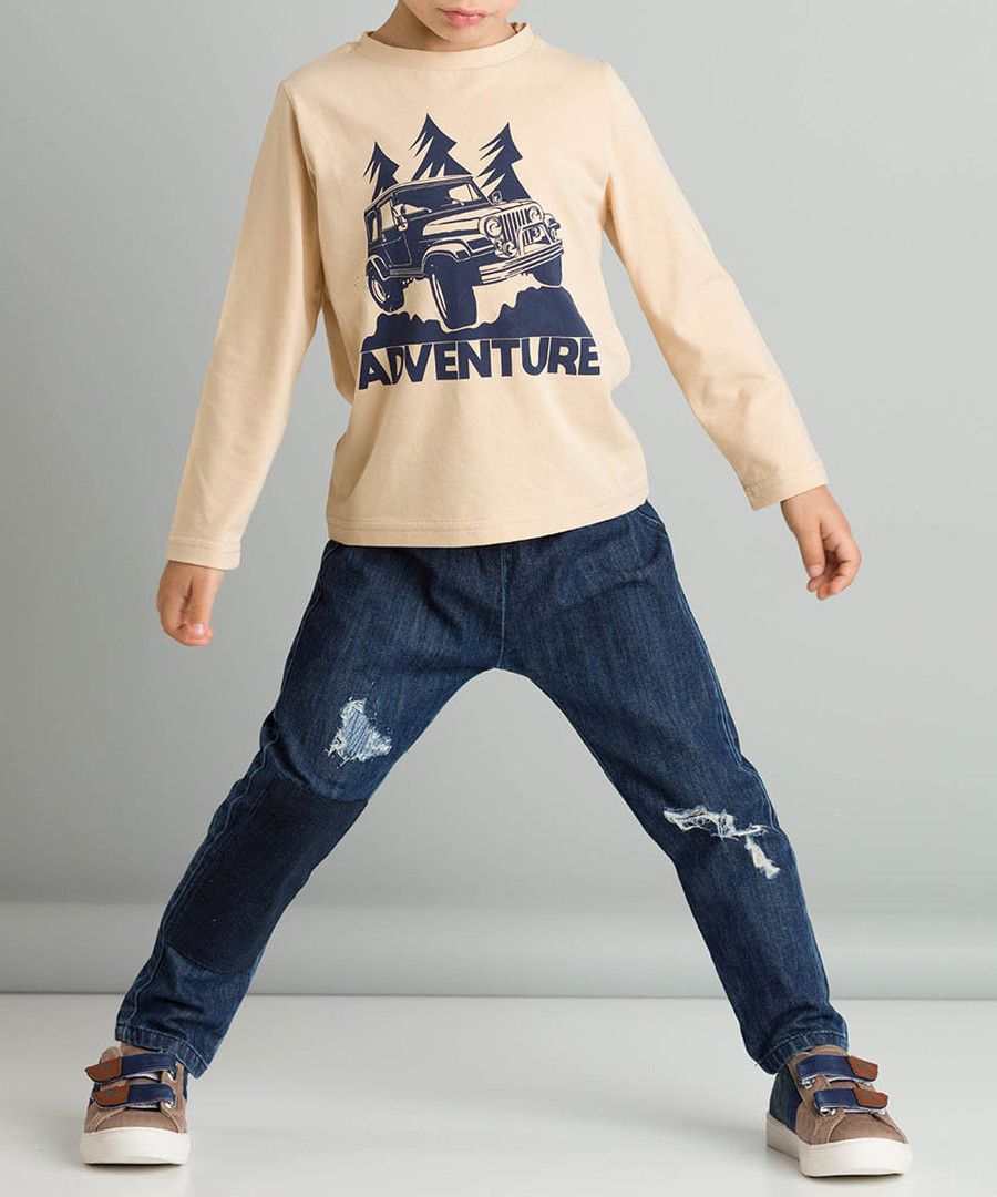 2pc adventure print cotton blend outfit Sale - ollie&olla