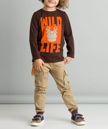 2pc wild print pure cotton outfit set