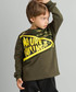 Brown & yellow zip cotton blend jumper Sale - ollie&olla Sale