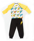 2pc yellow print cotton blend outfit set Sale - ollie&olla Sale