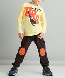 2pc monkey print cotton blend outfit set