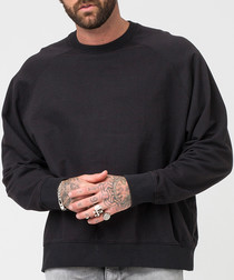 Estate black pure cotton jumper