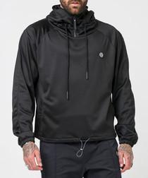 Hawk black high neck hoodie