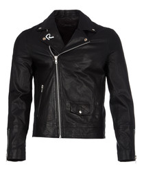 Religion black lambskin biker jacket