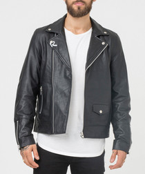 Shoreditch black lambskin biker jacket