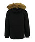 Black polyamide & faux fur hood parka Sale - geographical norway Sale