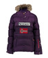 Purple branded faux fur hood parka coat Sale - geographical norway Sale