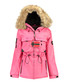 Fuchsia faux-fur branded parka coat Sale - geographical norway Sale