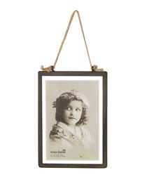 Brown metal rectangular photo frame