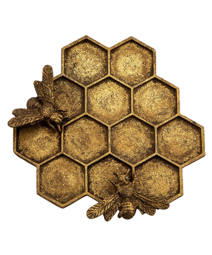 Gold-tone honey bee hive jewellery dish Sale - sass & belle
