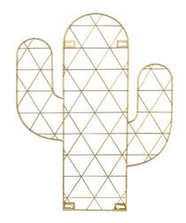 Gold-tone metal cactus photo holder