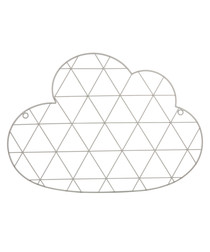 Grey metal cloud photo holder
