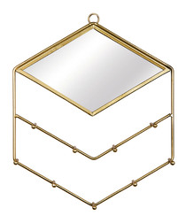 Gold-tone jewellery holder with mirror