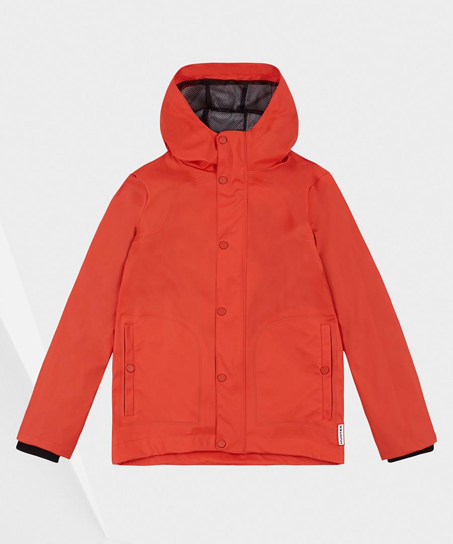 Kids' orange rubberised lightweight coat Sale - hunter