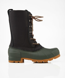 Men's Original Pac black & green boots