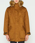 Men's camel pure cotton parka coat Sale - hunter Sale
