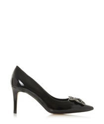 Betti black brooch court heels