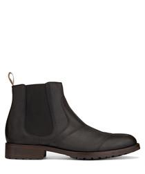 Lancaster black leather Chelsea boots