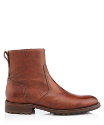 Attwell cognac leather ankle boots