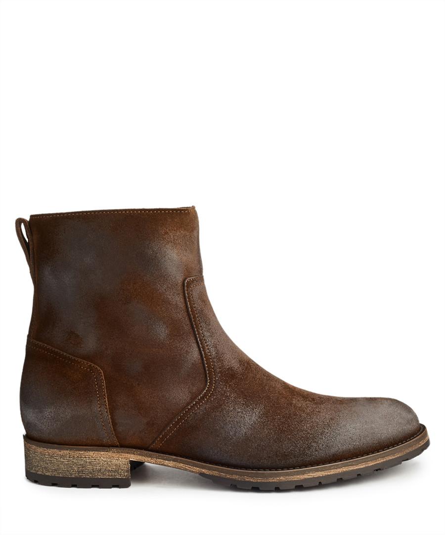 Attwell oak brown leather ankle boots Sale - Belstaff