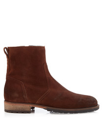 Attwell oak brown leather ankle boots