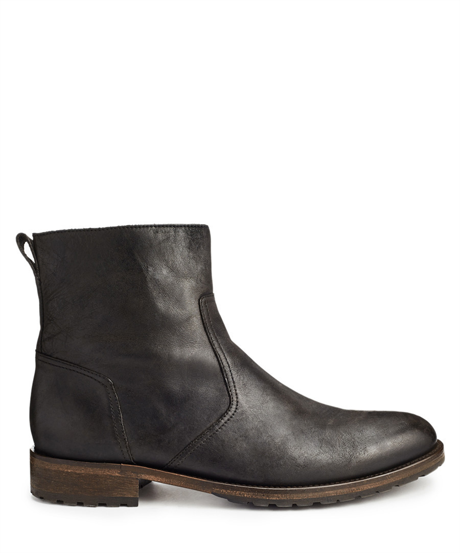 Attwell black leather ankle boots Sale - Belstaff