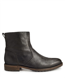 Attwell black leather ankle boots
