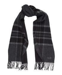 Signature pure cashmere check scarf