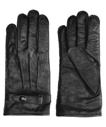 Heyford black leather gloves