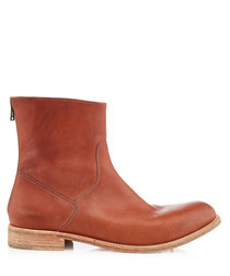 Perivale brick leather boots
