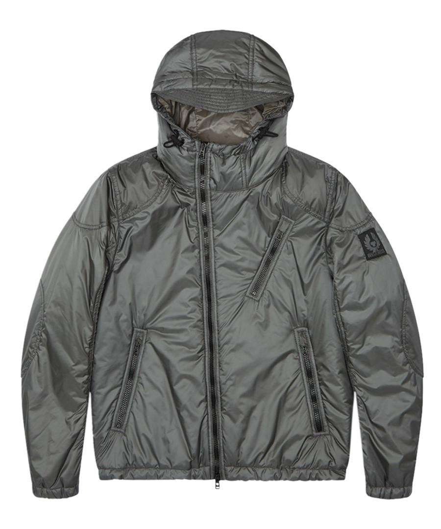 Hydeway ash green hooded jacket Sale - belstaff