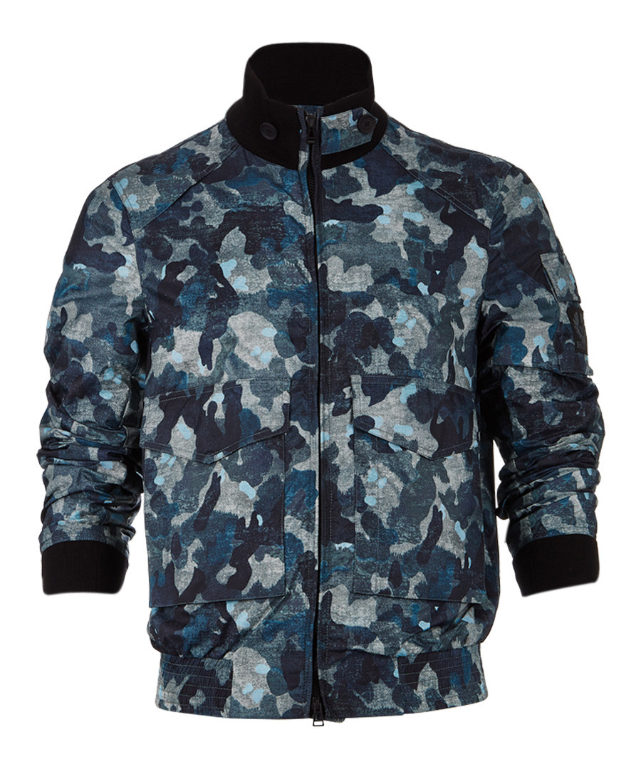 Ruscombe indigo camo print jacket Sale - belstaff