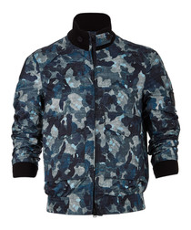 Ruscombe indigo camo print jacket