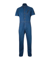 Toddington indigo high-neck jumpsuit