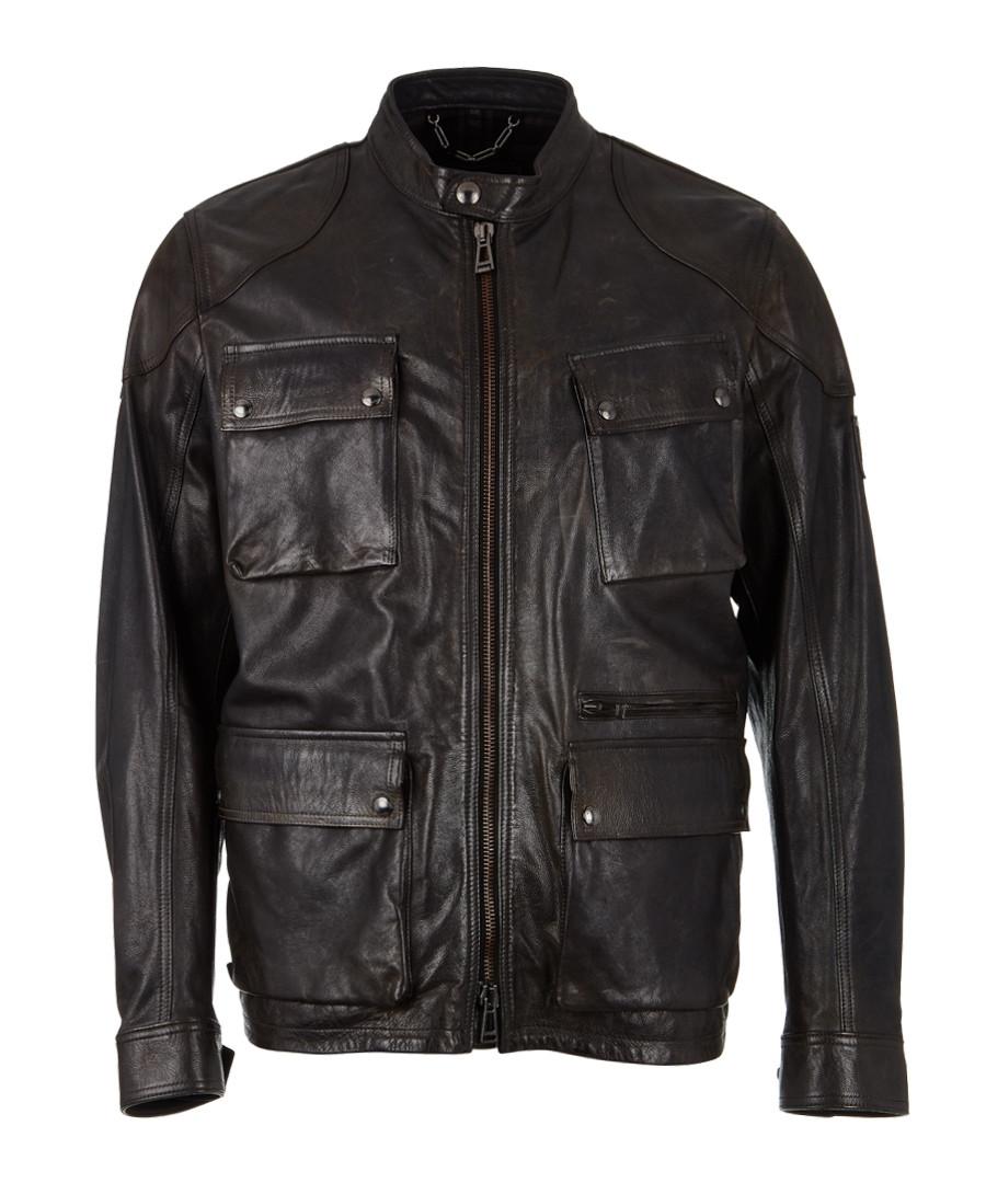 Parkeston vintage black leather jacket Sale - Belstaff