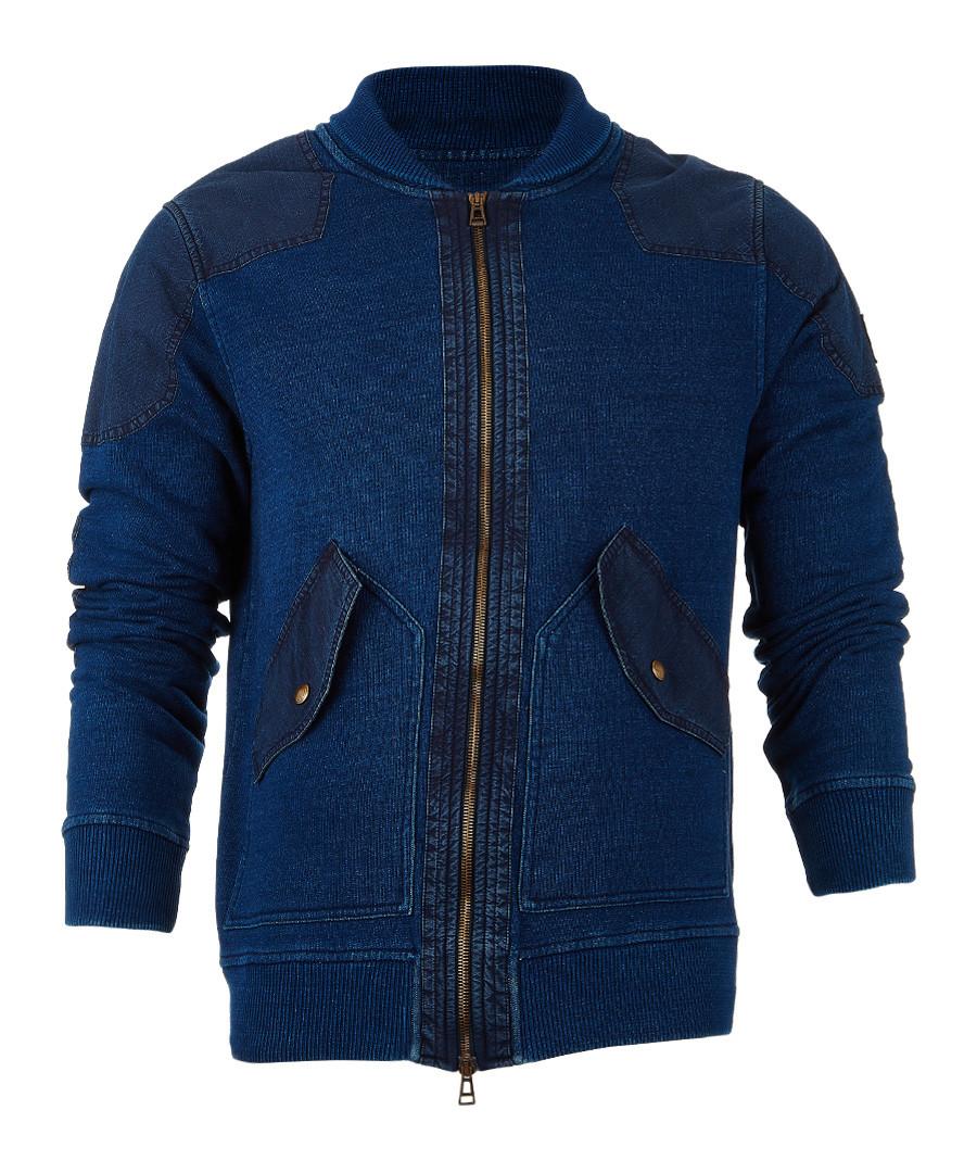 Westerham faded indigo zip-up jumper Sale - Belstaff