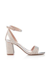Nude studded heels