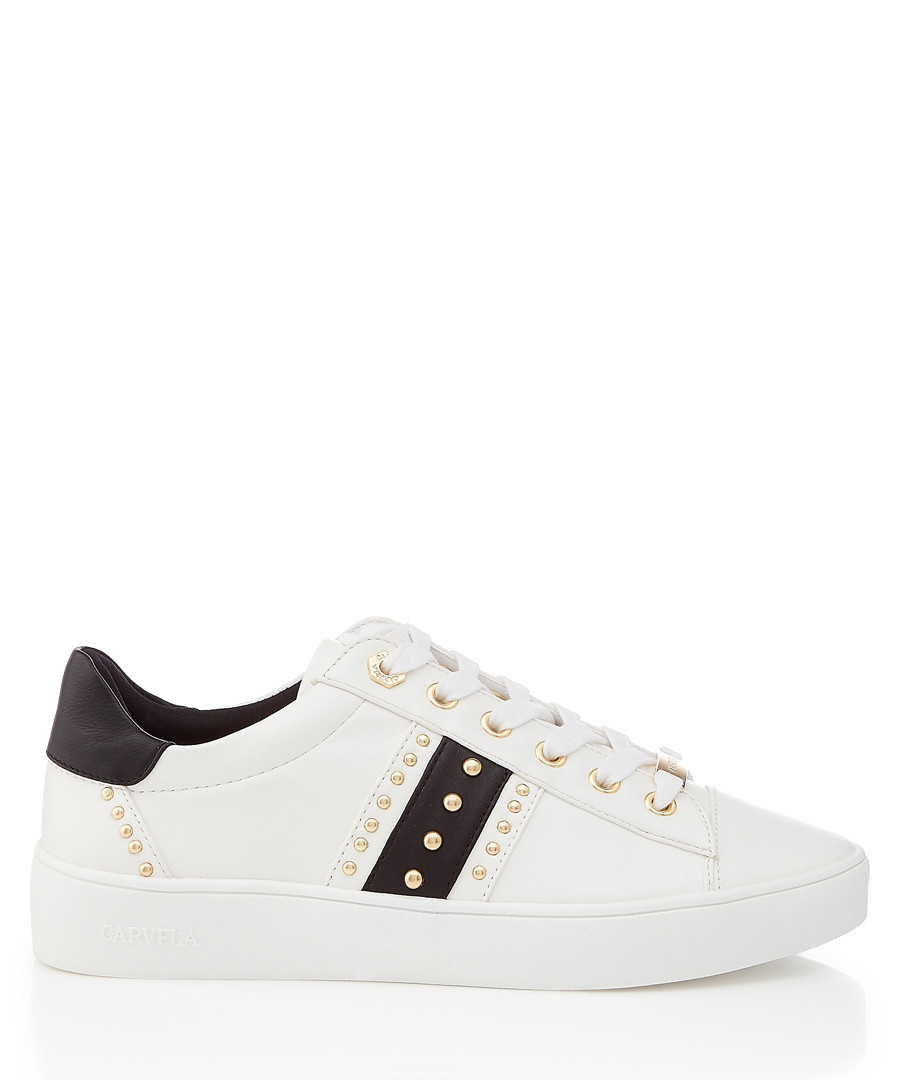 White & black studded sneakers Sale - carvela