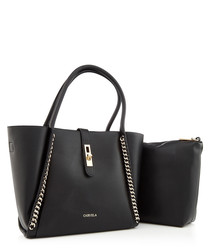 Floss black chain shoulder bag