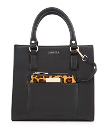 Simba black leopard print grab bag
