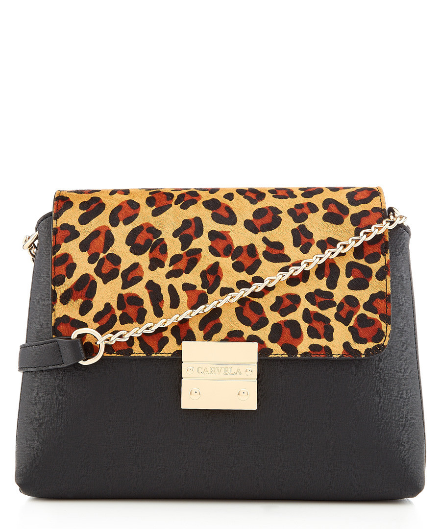 Blink black leopard print crossbody Sale - carvela