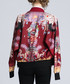 Red wine printed bomber jacket Sale - Kaimilan Sale