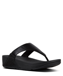 Lulu black molten metal sandals