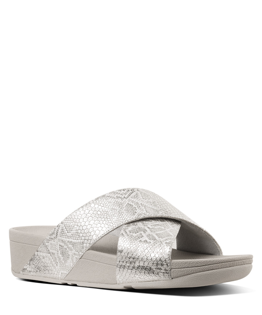 Lulu printed white wrap sandals Sale - FitFlop