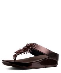 Rumba berry toe-thong sandals