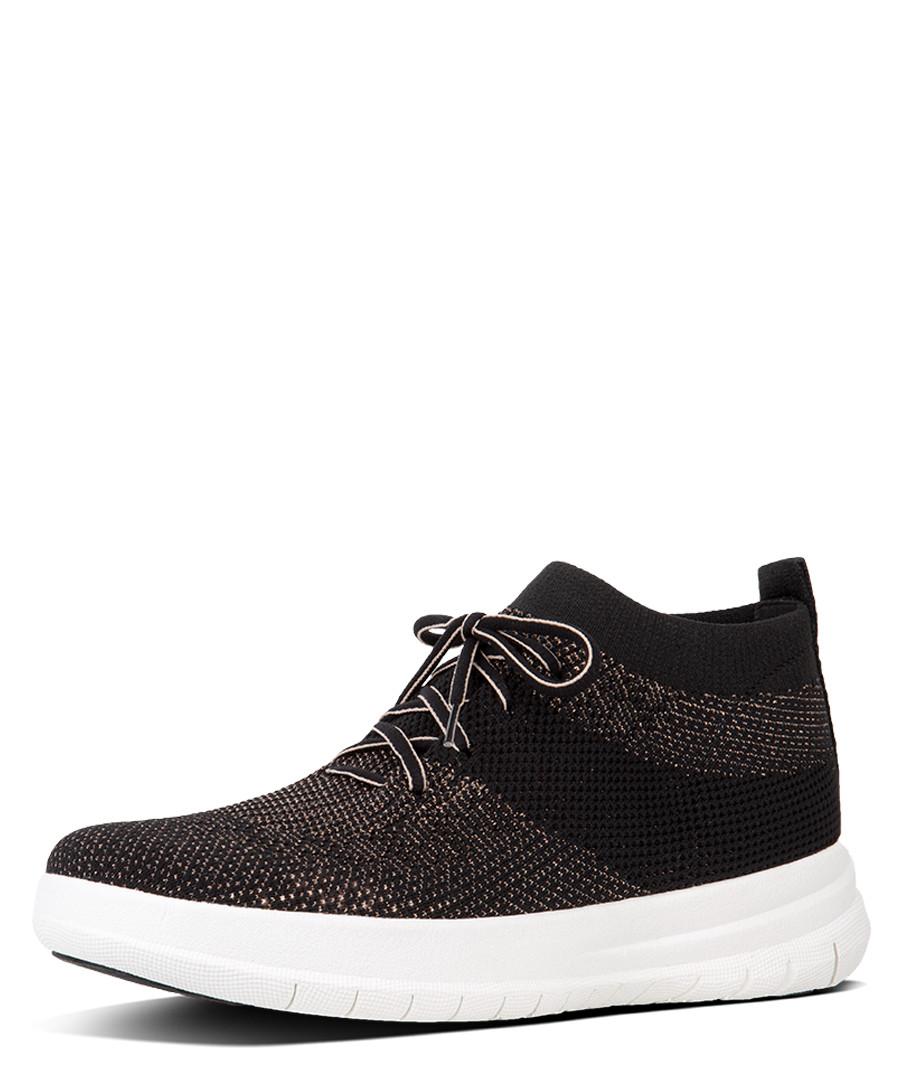 Uberknit black slip-on high-top sneakers Sale - fitflop