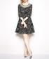Black & white illusion neck mini dress Sale - Kaimilan Sale
