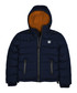 Blue navy padded hooded puffer jacket Sale - polo club st. martin Sale