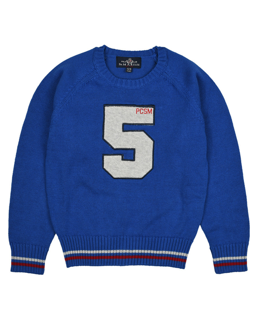 Mysotis blue pure cotton print jumper Sale - polo club st. martin