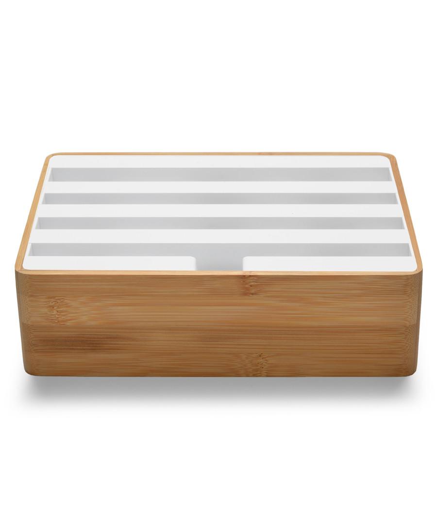 3.0 bamboo & white multi-device dock Sale - alldock